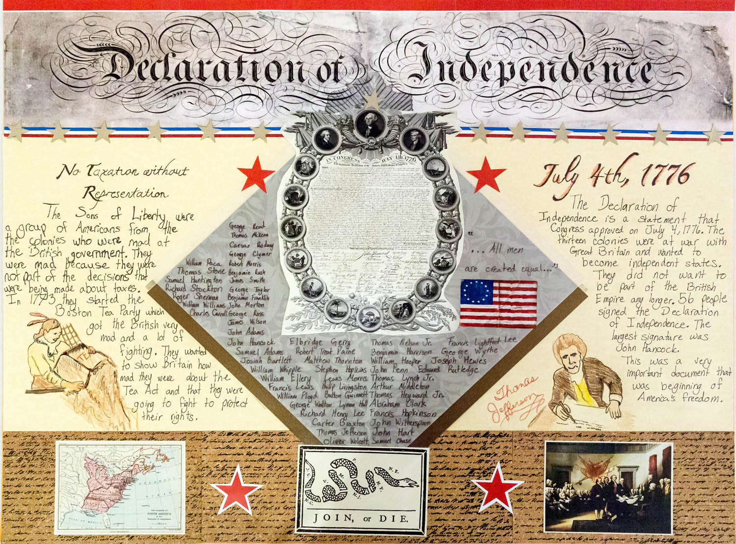 Lincoln 5th Grader Wins American History Poster Contest - SAR Gold ...